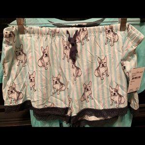 PJ Salvage pajama set. Shirt L. Shorts XL